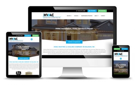 HVAC Company Website Design By Redwood